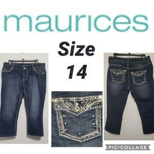 Maurices Capri Size 14 Bling